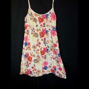 Esprit 8 floral sun dress cream adjustable straps